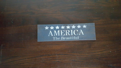 America the Beautiful Rustic Sign Americana A Rustic Feeling