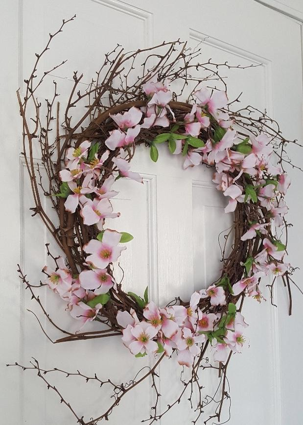Pink Summer Dogwood Wreath