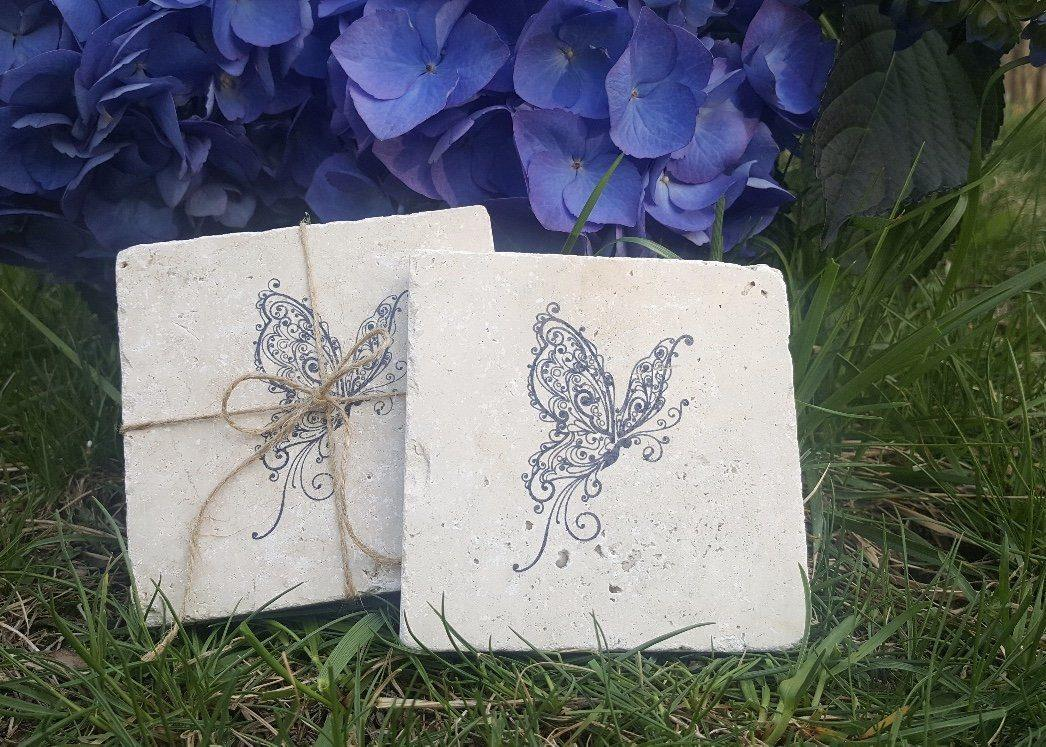 Butterfly Summer Coasters Garden Decor A Rustic Feeling