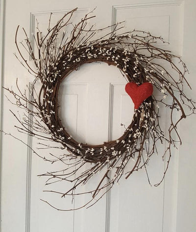 Valentines Day Wreath, Valentine Decor