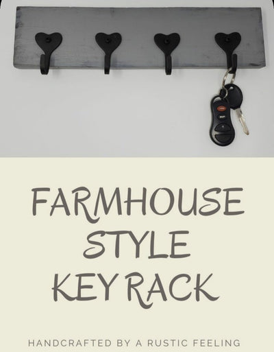 Key Rack, Valentines Day Gift for Him, Key Holders, Heart Decor Valentine Decor A Rustic Feeling