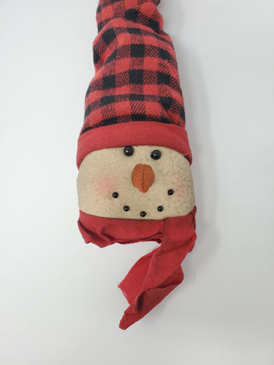 Primitive Snowman with Buffalo Check Long Hat Primitive Decor A Rustic Feeling