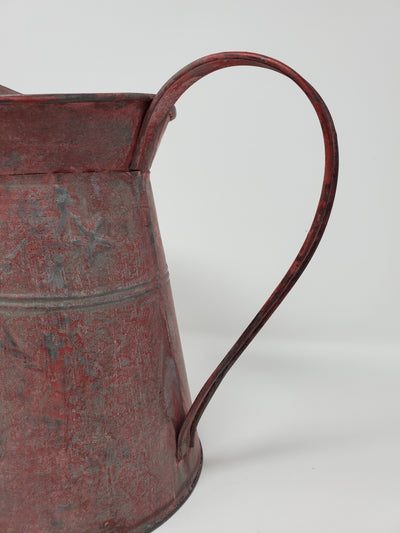 Rustic Red Metal Pitcher Farmhouse Decor A Rustic Feeling