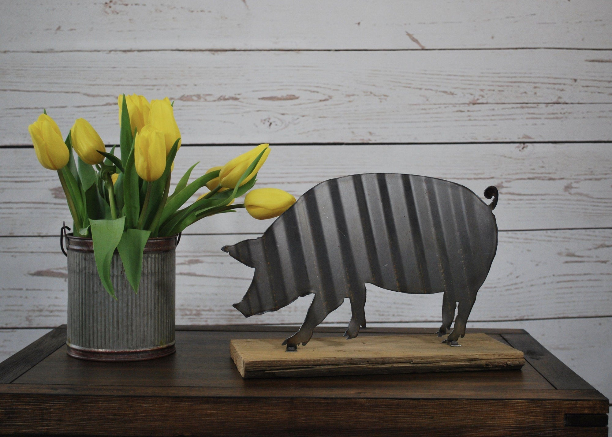 Corrugated Pig Sign, Farm Decor, Farmhouse Style