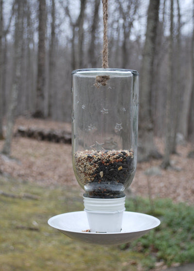 Mason Jar Bird Feeder Garden Decor A Rustic Feeling