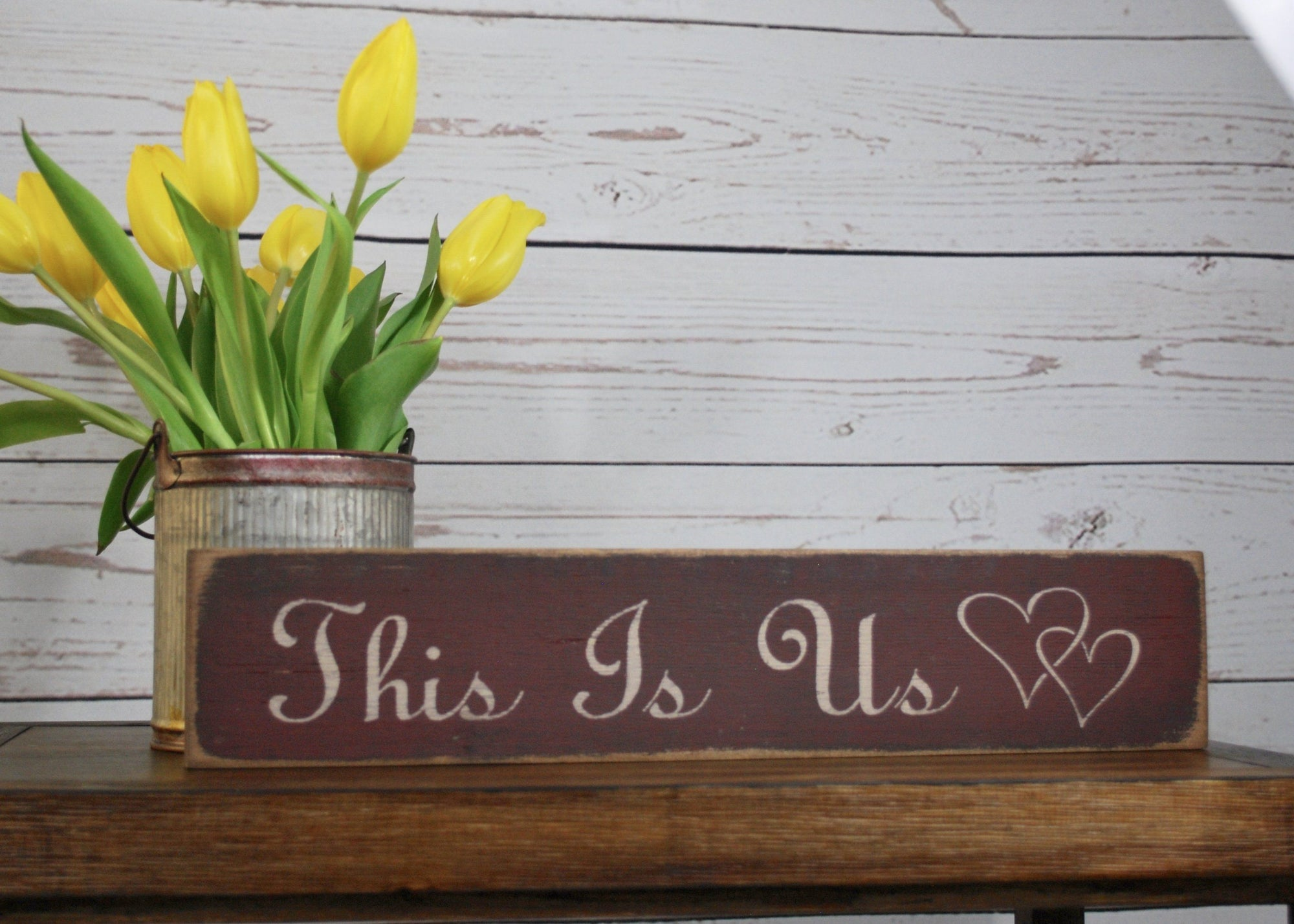 This Is Us Rustic Wood Sign Farmhouse Decor A Rustic Feeling