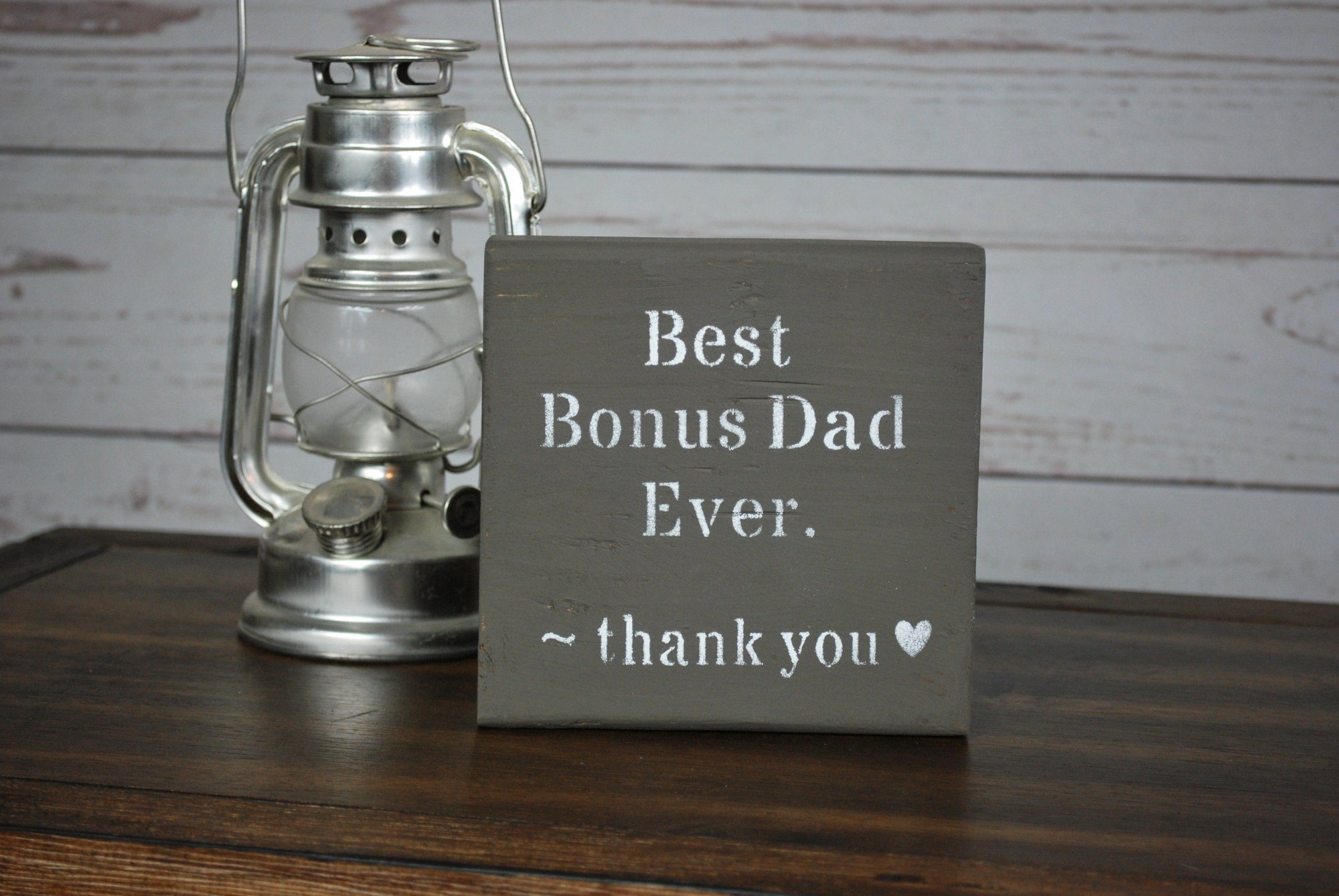 Bonus Dad, Step Dad Sign Wedding A Rustic Feeling