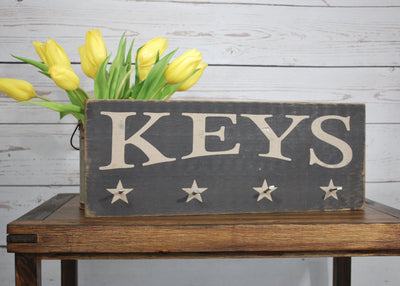 Rustic Wooden Key Rack