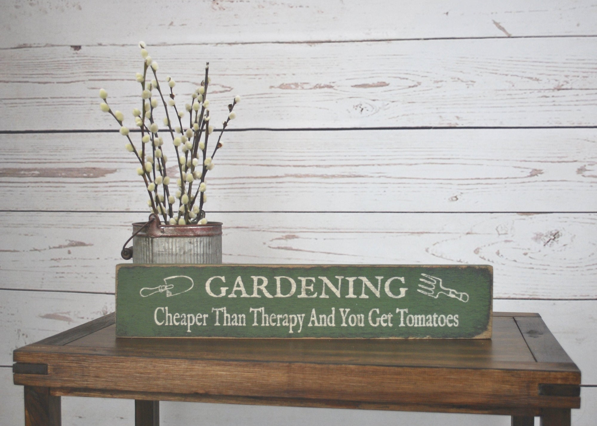Rustic Wood Sign Gift for a Gardener