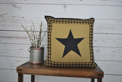 "Star Pillow, Delaware Star Pillow, 16"" Pillow"