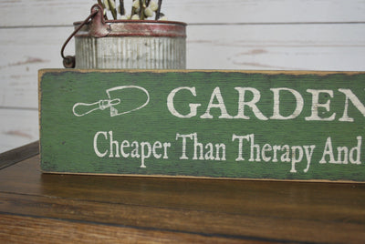 Rustic Wood Sign Gift for a Gardener Garden Decor A Rustic Feeling