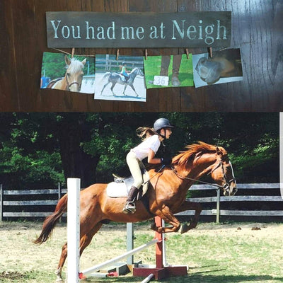 You Had Me at Neigh Rustic Sign