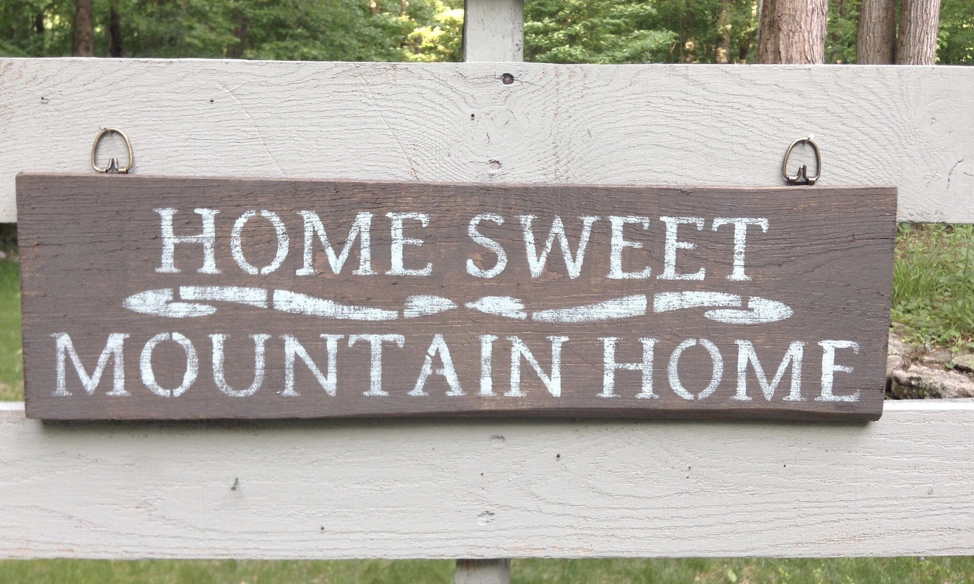 Welcome Mountain Cabin Sign