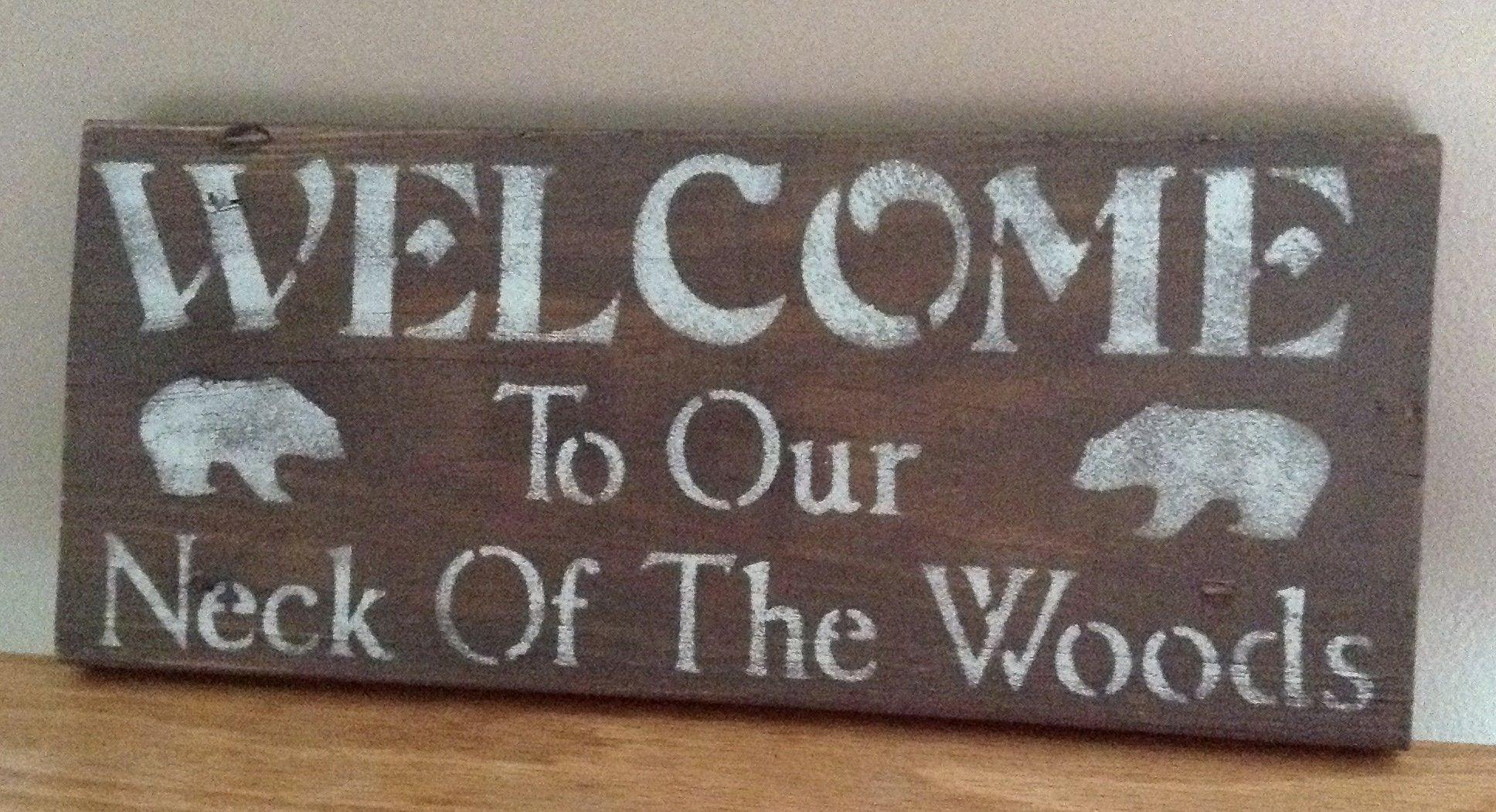 Cabin Sign, Cabin Decor, Bear Sign