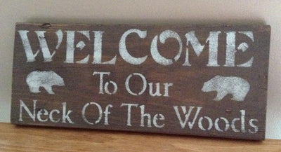 Bear Cabin Wall Art Cabin Decor A Rustic Feeling