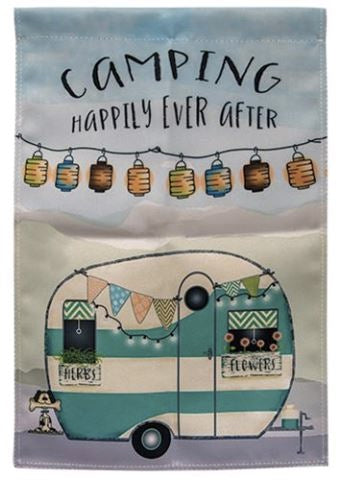 Camping Happily Ever After Garden Flag Camper Decor A Rustic Feeling