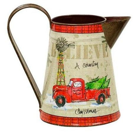 Country Christmas Pitcher Seasonal A Rustic Feeling