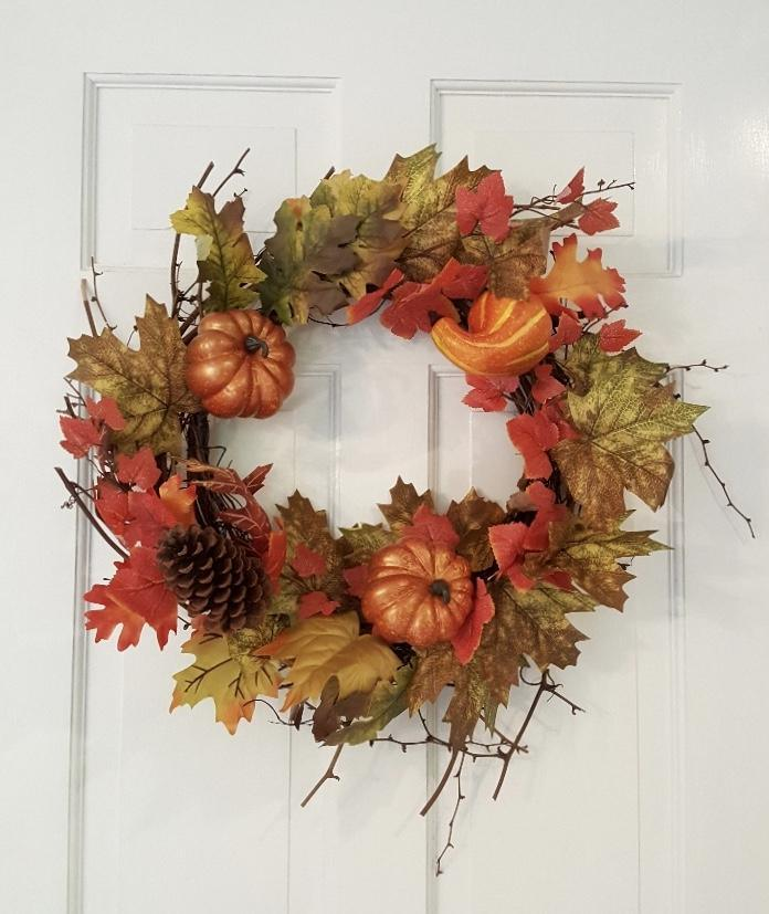 Fall Decor, Fall Wreaths for Front Door, Fall Wreath with Pumpkins Fall Decor A Rustic Feeling