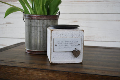 Rustic Candle Holder with Charm Farmhouse Decor A Rustic Feeling
