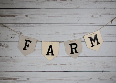 Farmhouse Decor, Farm Wood Garland Farmhouse Decor A Rustic Feeling
