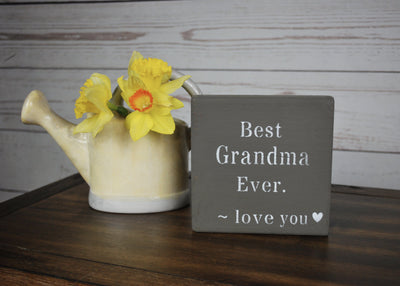 Best Grandma Ever Wood Sign Mothers Day A Rustic Feeling