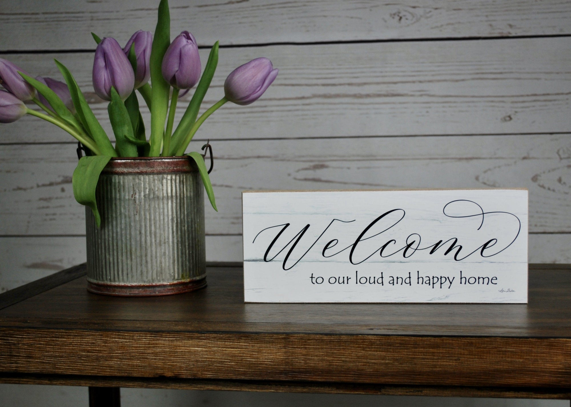 Welcome Sign, Mom Gift, Happy Home Sign, Welcome to Our Loud and Happy Home, Farmhouse Sign, Farmhouse Style, Gift for Mom, Gift from Children, Mom Gift from Daughter, Mom Gift from Son