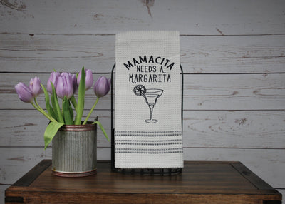 Mamacita Needs A Margarita Funny Dishtowel Farmhouse Decor A Rustic Feeling
