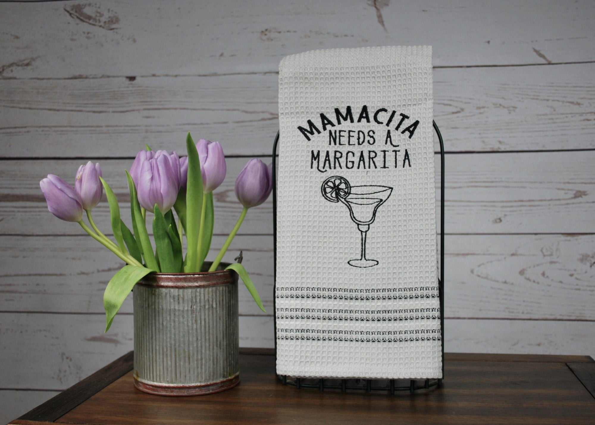New Mom Gift, Mamacita Needs A Margarita Dishtowel