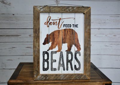 Gift for Dad, Don't Feed the Bears, Cabin Sign, Dad Gifts, Gift for Men, Gift for Him