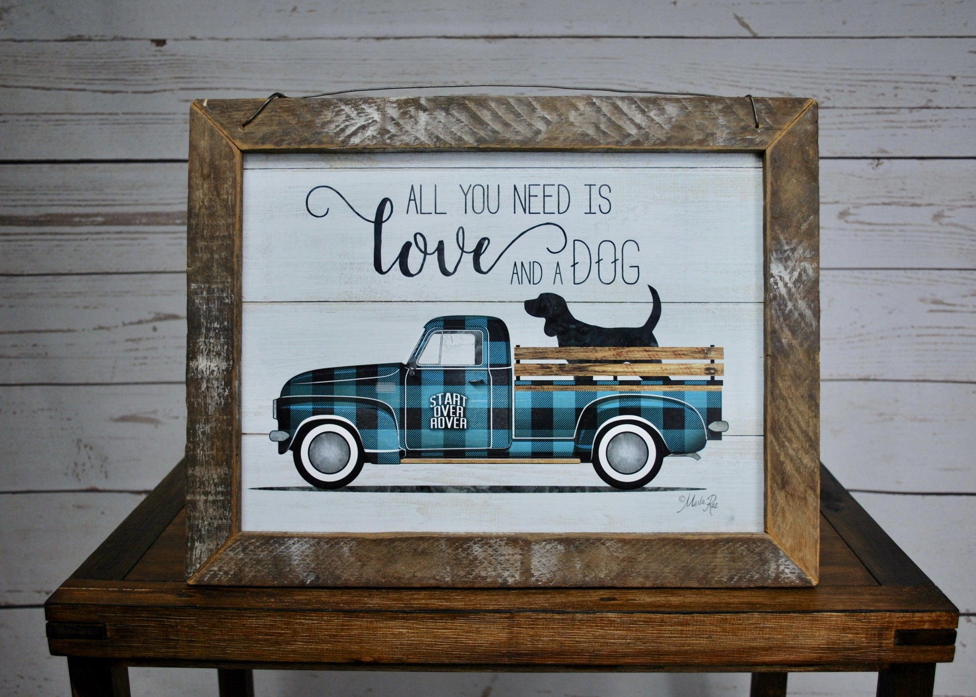 Dog Mom, Dog Dad, Dog Decor, Dog Sign, All You Need is Love and a Dog, Farmhouse Sign, Pet Gifts, Dog Gifts, Dog Decor, Rustic Truck, Rustic Truck Decor