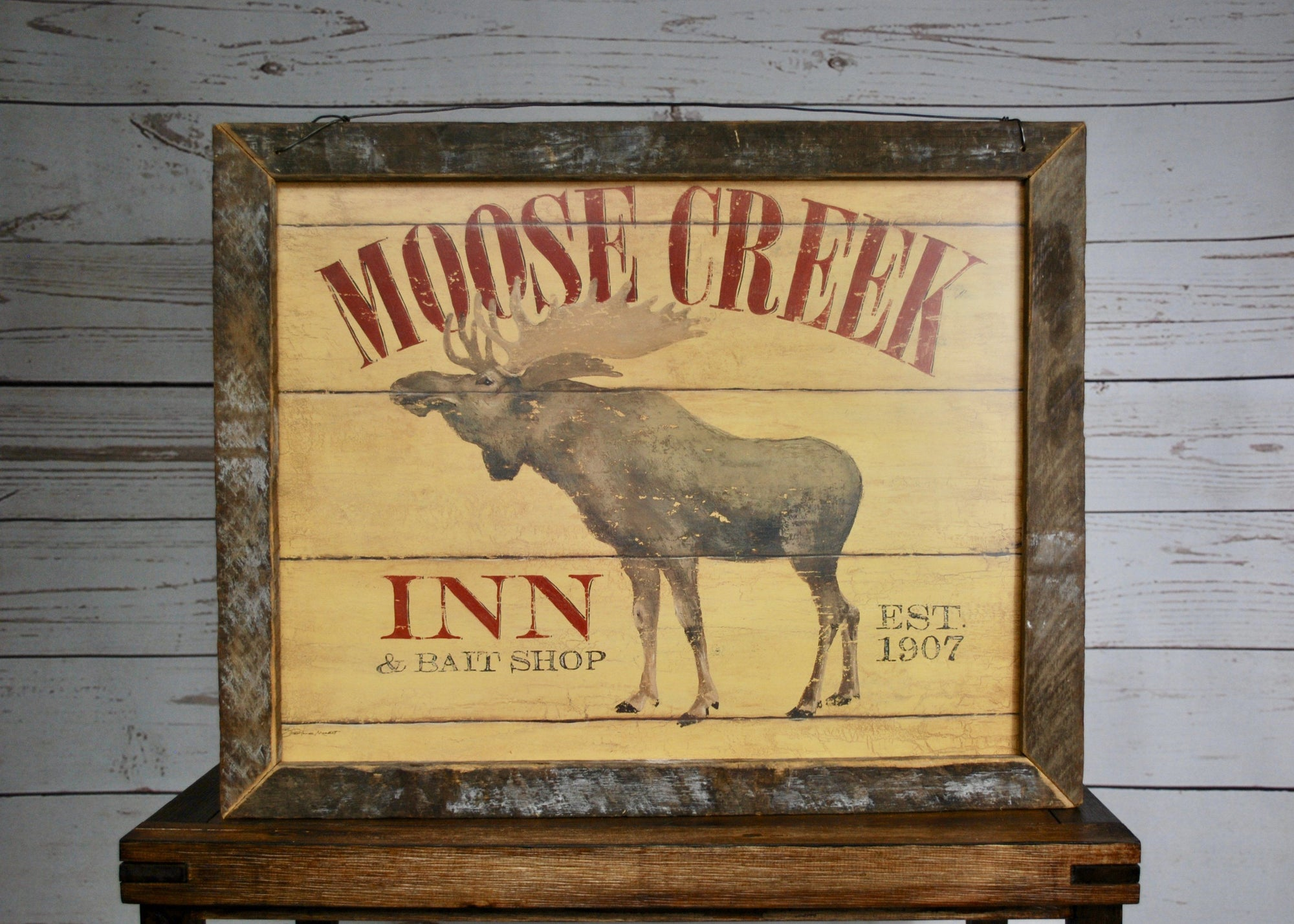 Moose Decor, Moose Sign, Moose Wall Art, Cabin Decor, Cabin Moose, Mountain Lodge Decor