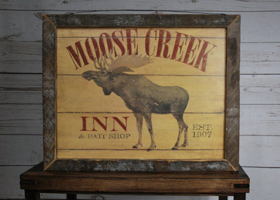 Moose Cabin Wall Art Cabin Decor A Rustic Feeling