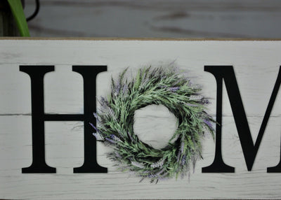 Summer Wreath Home Shelf Sign