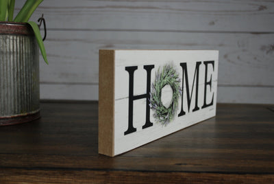 Summer Wreath Home Shelf Sign Country Home Decor A Rustic Feeling