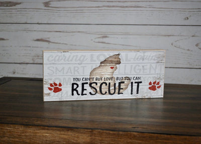 Animal Rescue Rustic Sign Pet Decor A Rustic Feeling