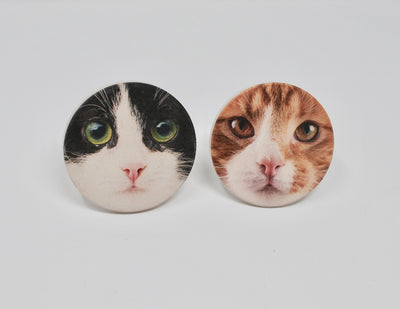 Cat Coasters for the Car, Car Coasters, Cat Face Car Coasters, Cat Lover Gift, Sweet 16 Birthday, New Kitten Gift, Gift for Her