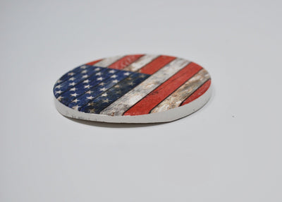 American Flag Car Coasters, Rustic American Flag Coasters for the Car, American Flag Decor, New Driver Gift, Sweet 16 Gift, Gift for Boyfriend. Gift for Girlfriend, Car Accessories