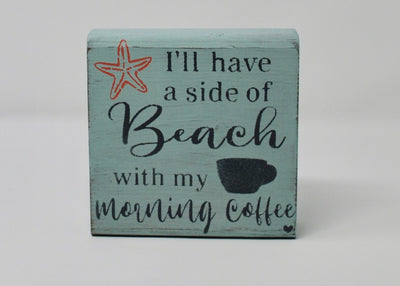 Beach Decor, Beach Signs, Beach House Decor, Coffee Sign, Coffee Lover Gifts Summer Deocr A Rustic Feeling