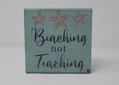 Beach Signs, Teacher Signs, Teacher Gift, Teacher, Summer Beach Sign for Teachers Summer Decor A Rustic Feeling