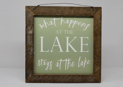Lake House Sign, What Happens At The Lake Sign Summer Decor A Rustic Feeling