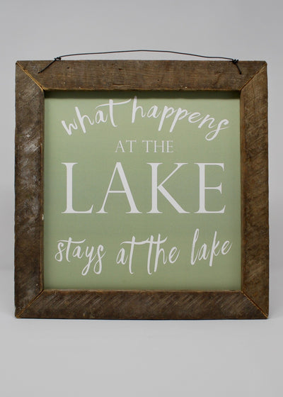 Lake House Sign, What Happens At The Lake Sign