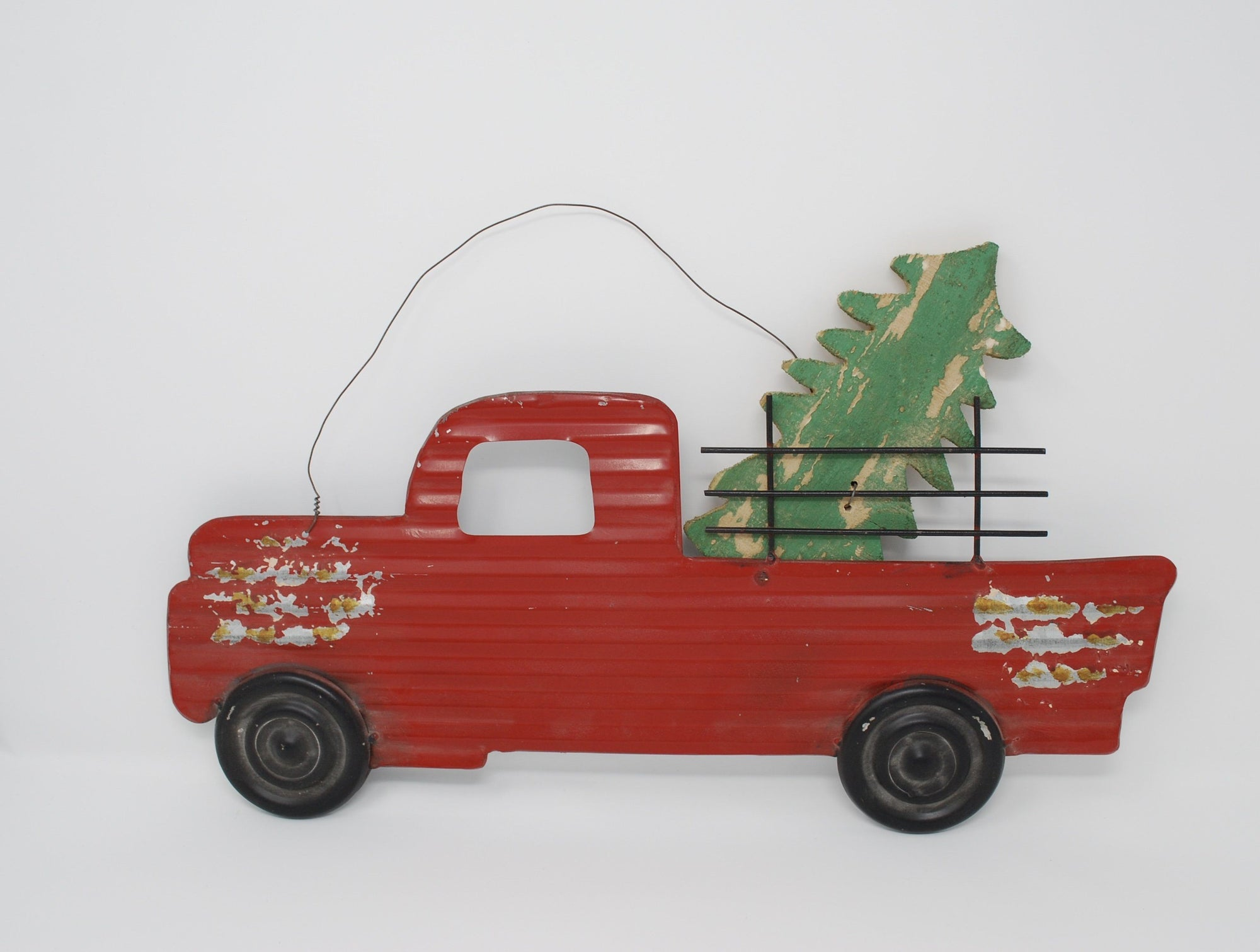 Corrugated Red Rustic Truck Sign