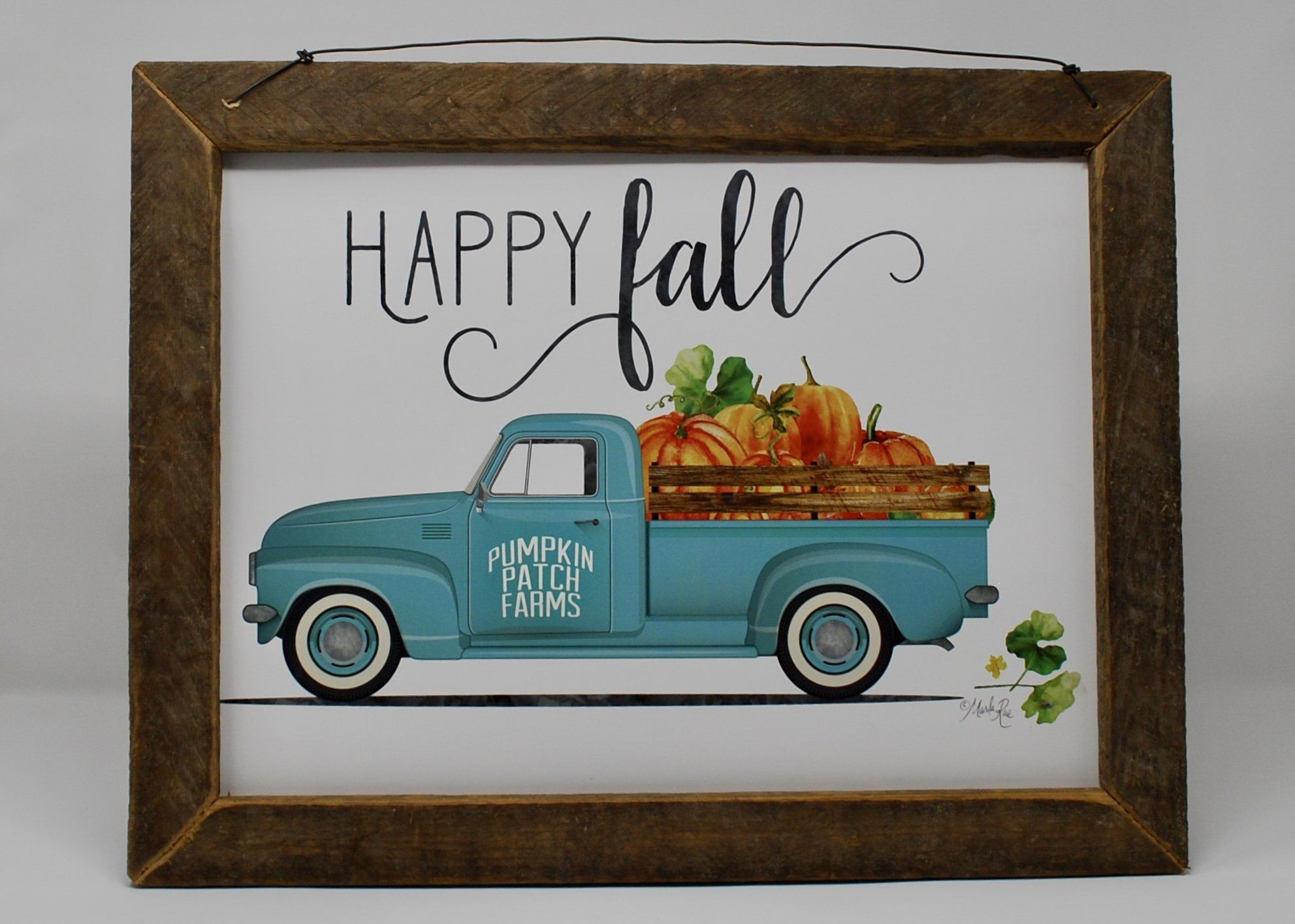 Rustic Truck Decor, Fall Decor, Rustic Truck with Pumpkins, Fall Rustic Truck, Rustic Truck Sign, Fall Wood Sign