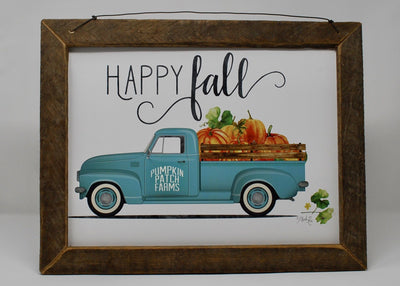 Rustic Truck Pumpkin Fall Decor