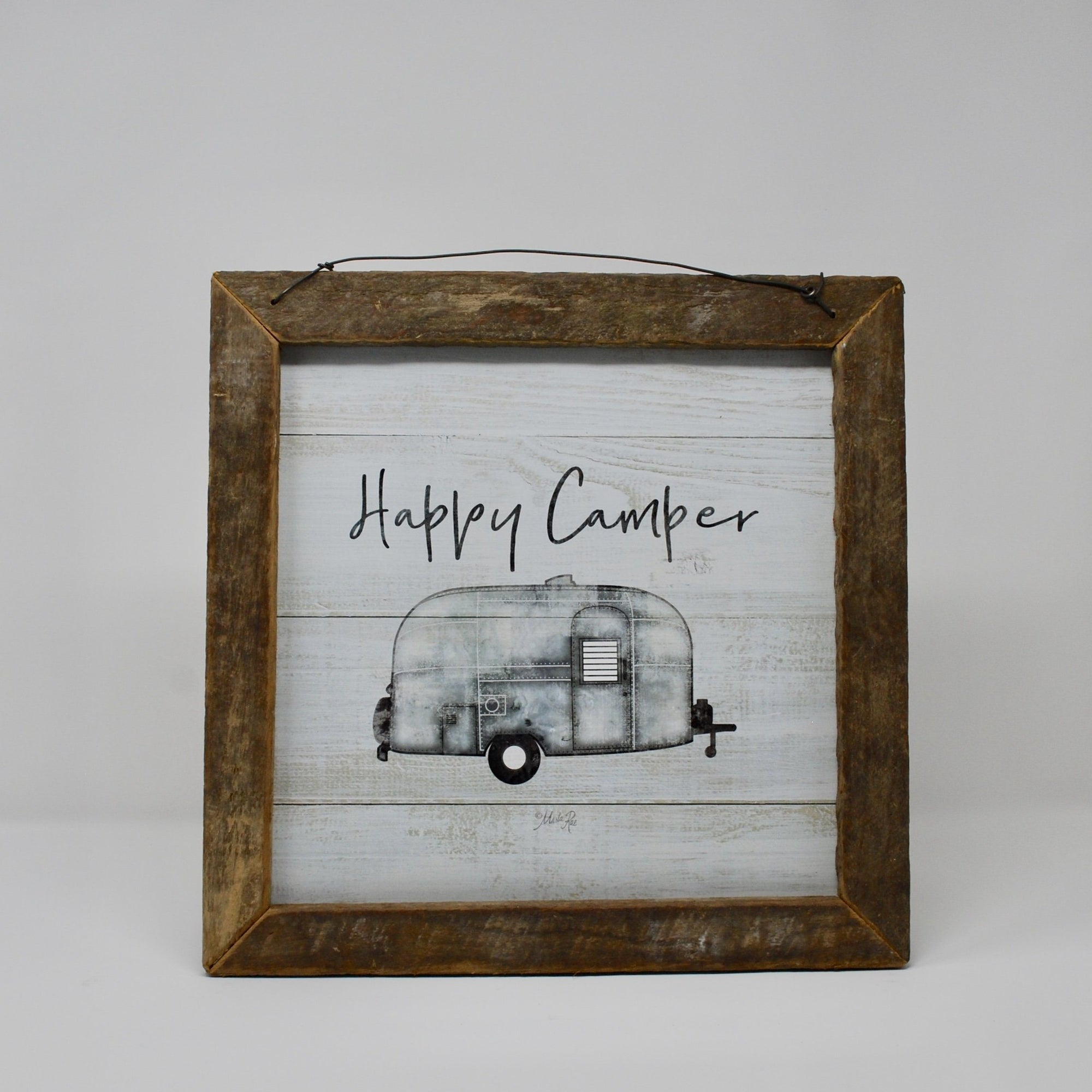 Happy Camper Rustic Sign