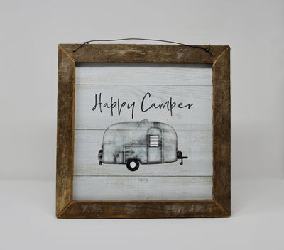Happy Camper Rustic Sign Camper Decor A Rustic Feeling