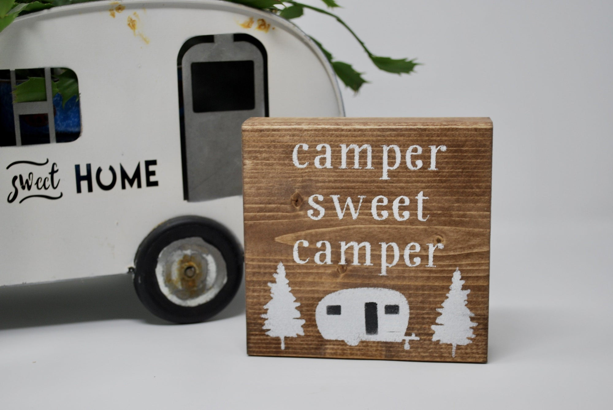 Happy Camper, Camper Sweet Camper, Camper Decor, RV Decor, Rustic Sign for Campers, Camper Gifts, Camping GIfts, Vintage Camper Decor, Fun Camping Gift Ideas