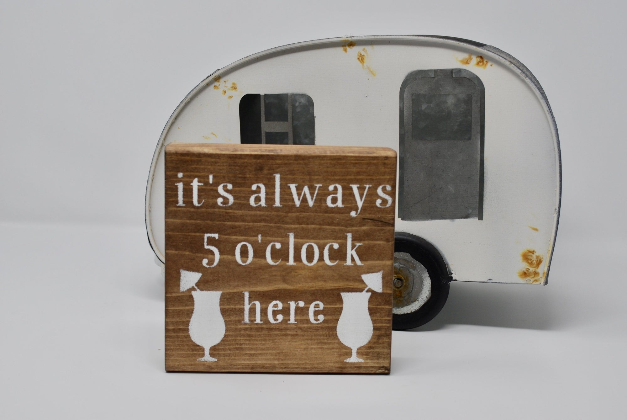 Fun Rustic Camper Sign