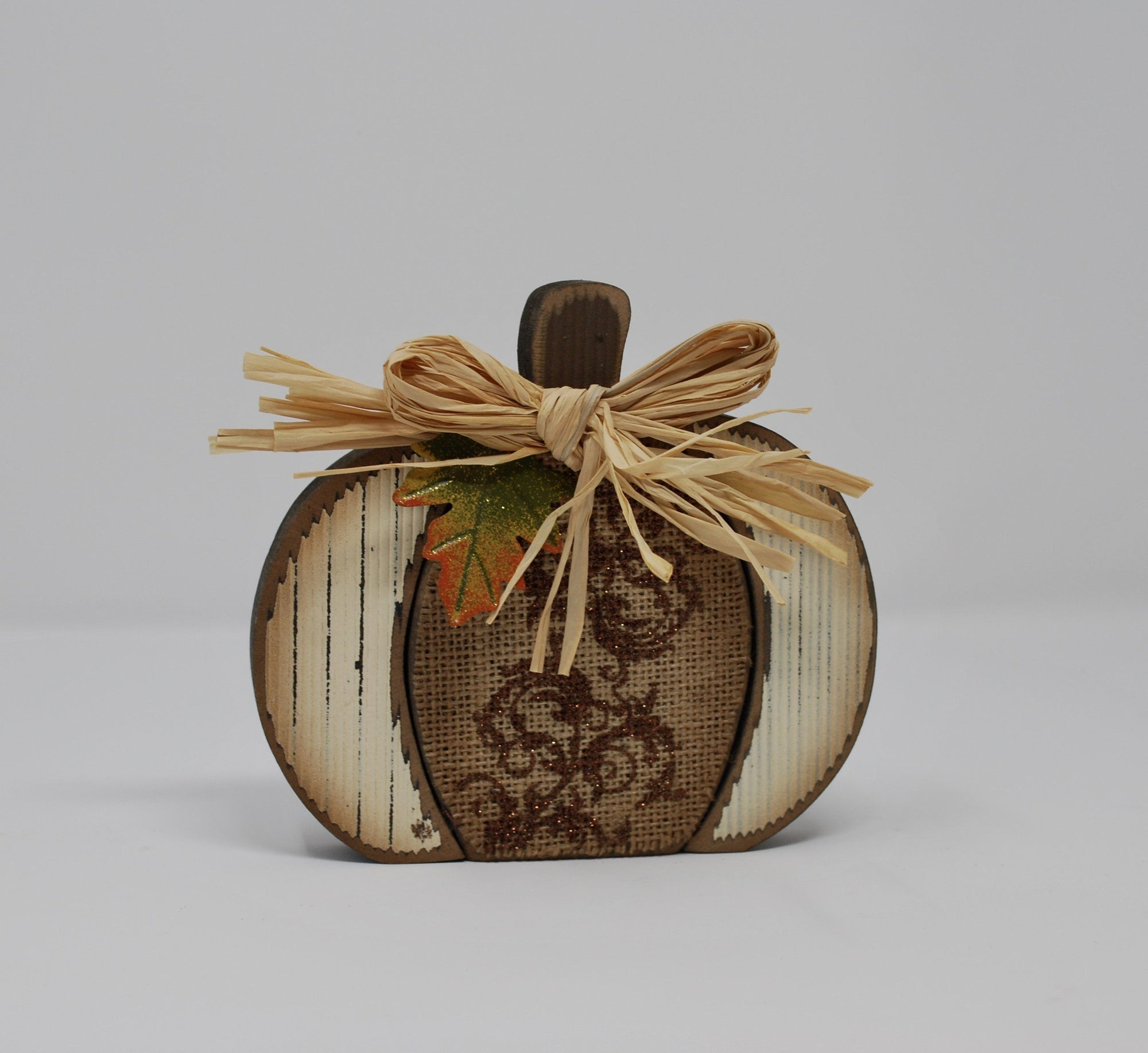 Wood White Pumpkin Decoration Fall Decor A Rustic Feeling