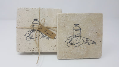 Gift for Firefighter, Fireman Gifts Coasters A Rustic Feeling LLC